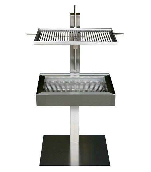 Design holzkohlegrill edelstahl stainless steel for Edelstahl holzkohlegrill