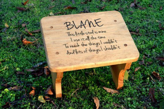 Personalized Kids Stepping Stool Rustic Decor Children S