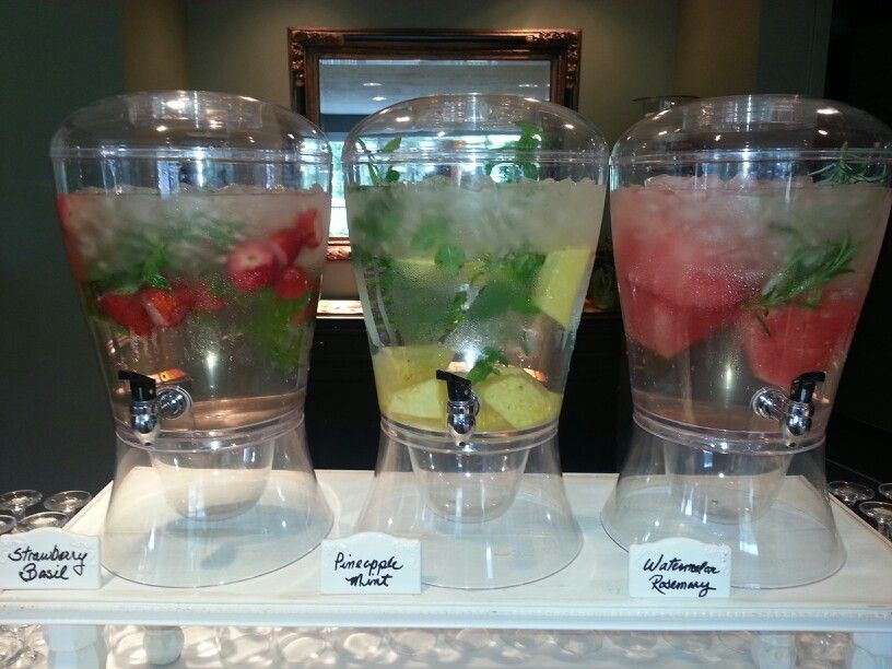 Spa water...a wonderful addition to the reception menu at Eaglewood in North Salt Lake, UT 801-918-0600