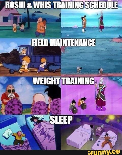 Dragonball/Super - Master Roshi & Whis train alike