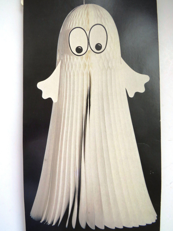 Vintage Honeycomb Ghost Halloween Decoration