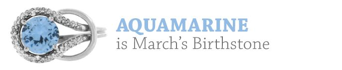 March Birthstone - Aquamarine Gemstone Jewelry and Discount Newsletter From Gemologica.com