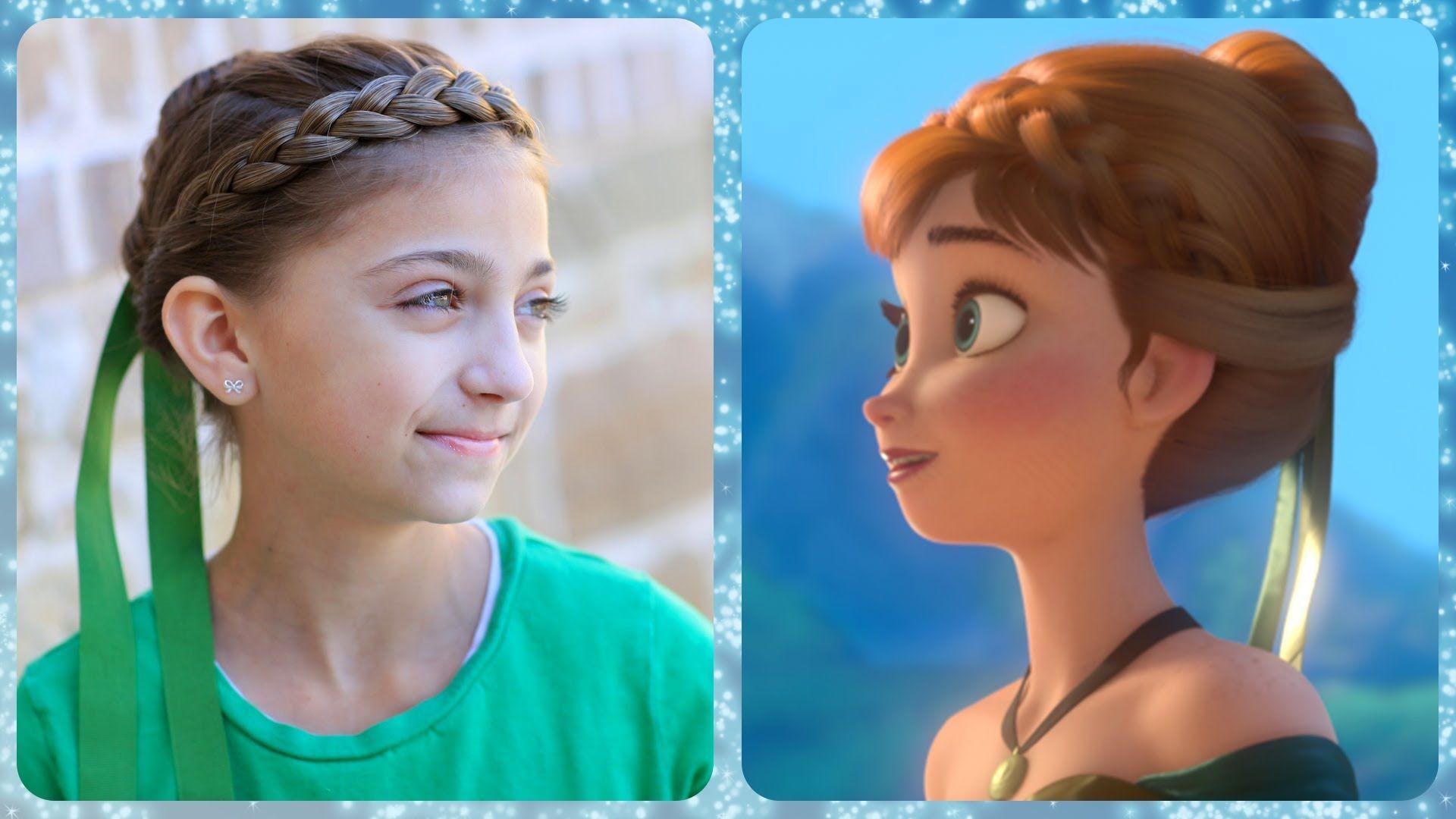 Frozen Inspired Anna's Coronation Hairstyle Tutorial | A CuteGirlsHairstyles Disney Exclusive