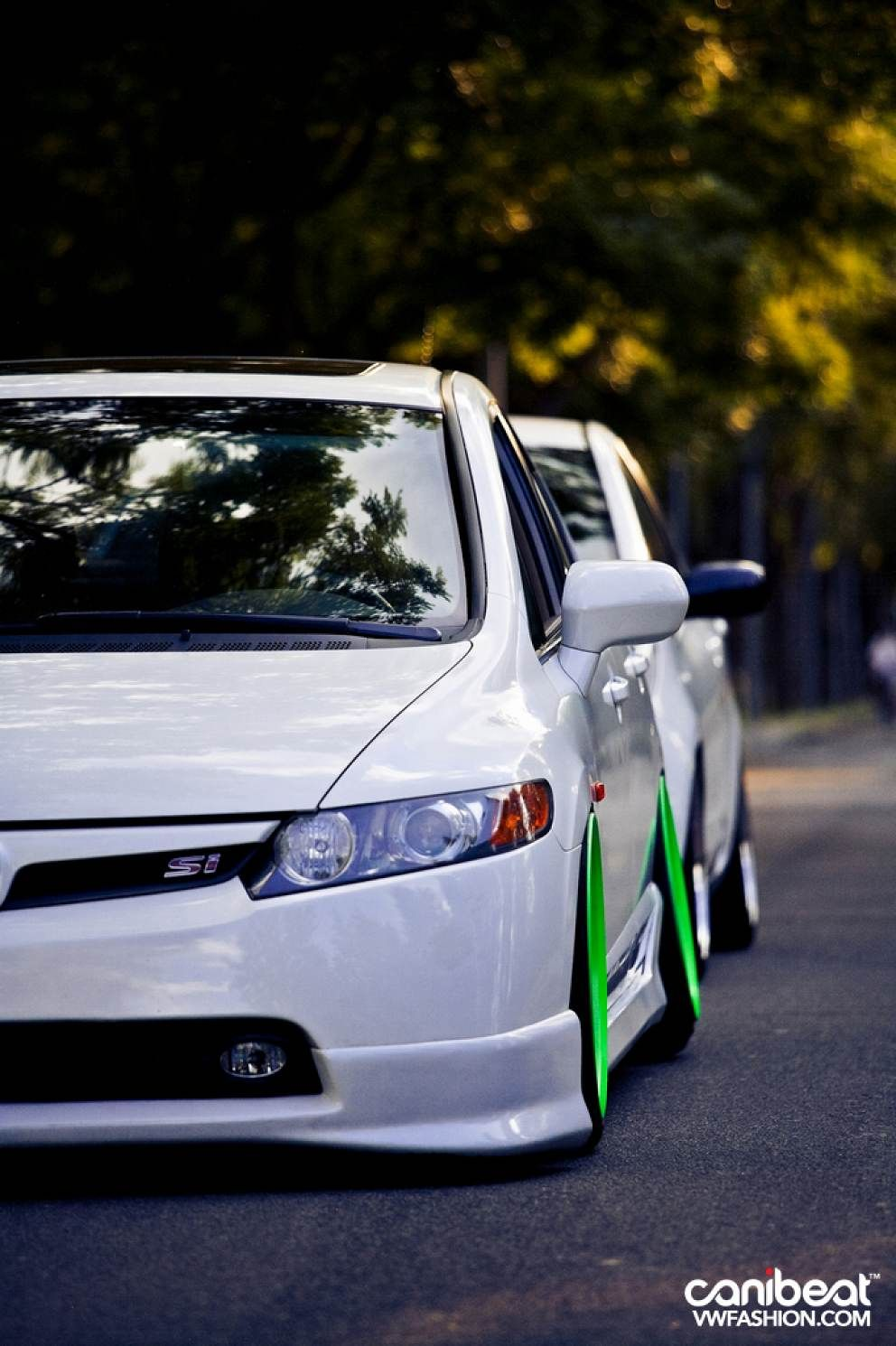 Neon green color series honda civic si vwfashion canibeat cars