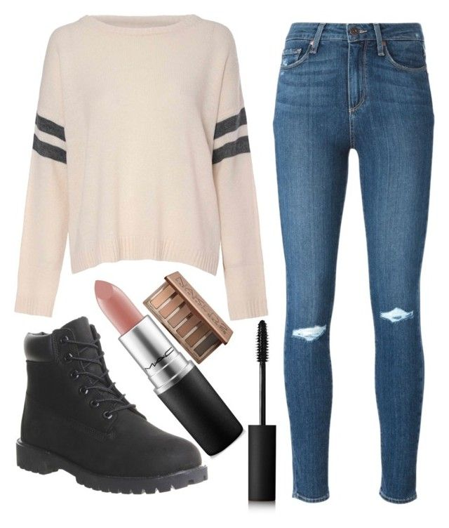 """Set #11"" by heyymadi on Polyvore featuring Glamorous, Paige Denim, Timberland, MAC Cosmetics, NARS Cosmetics and Urban Decay"