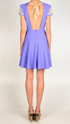 Tibi dress. This back is so glam.