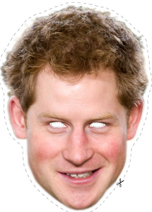 Free Prince Harry Cut Out Printable Mask