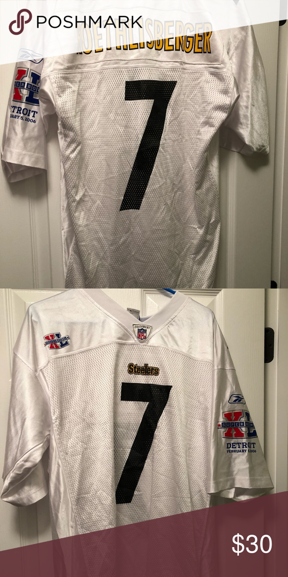 watch 3e33c 258e5 Ben Roethlisberger Super Bowl XL Jersey, Sz Large Ben ...