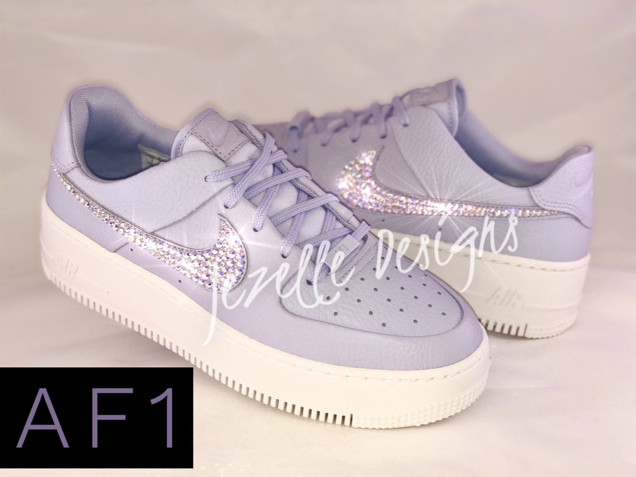 Bling Nike Women S Air Force 1 Af1 Sage Low Casual Shoes Etsy Bling Nike Shoes Casual Shoes Nike