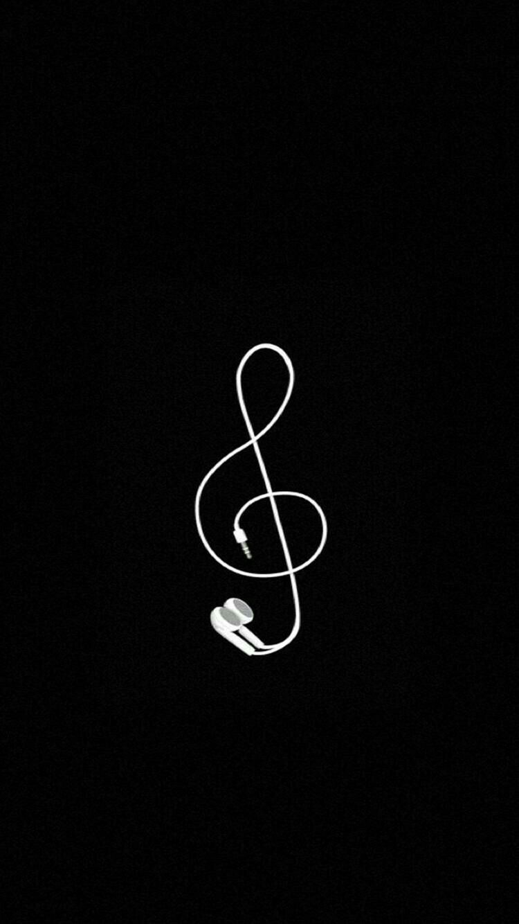 Black Flowing Music Notes On White Background Vector Free Image By Rawpixel Com Gift Chayanit Vector Free Music Notes Background Music Notes