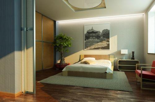 Bedroom Sliding Divider #MidCenturyRoomDivider Mid Century Room