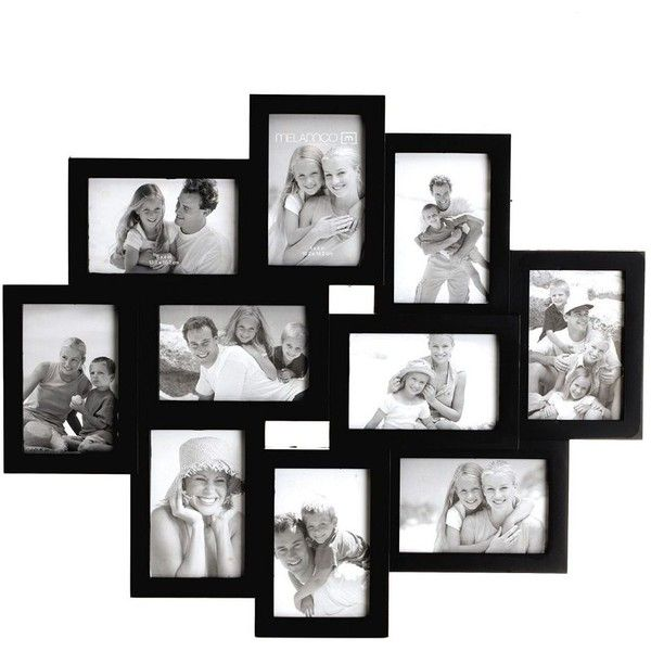Melannco 10 Opening 4 X 6 Collage Frame Black 35 Liked On Polyvore Featuring Home Hom Photo Wall Collage Frames On Wall
