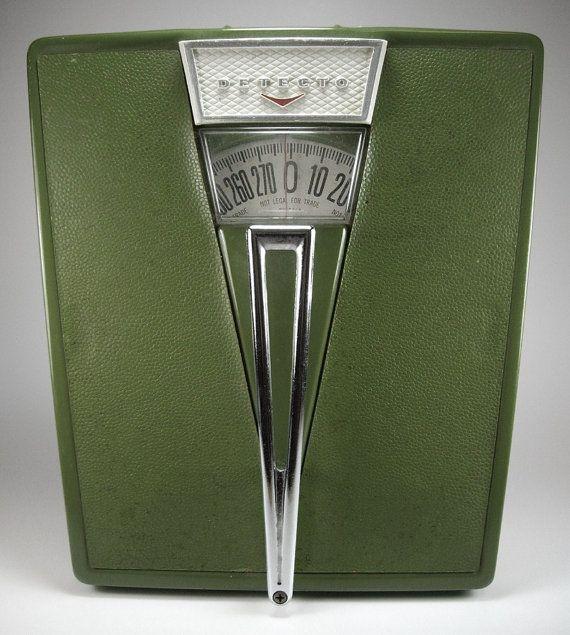 Vintage 1970s Avacado Green Bathroom Scale by DETECTO