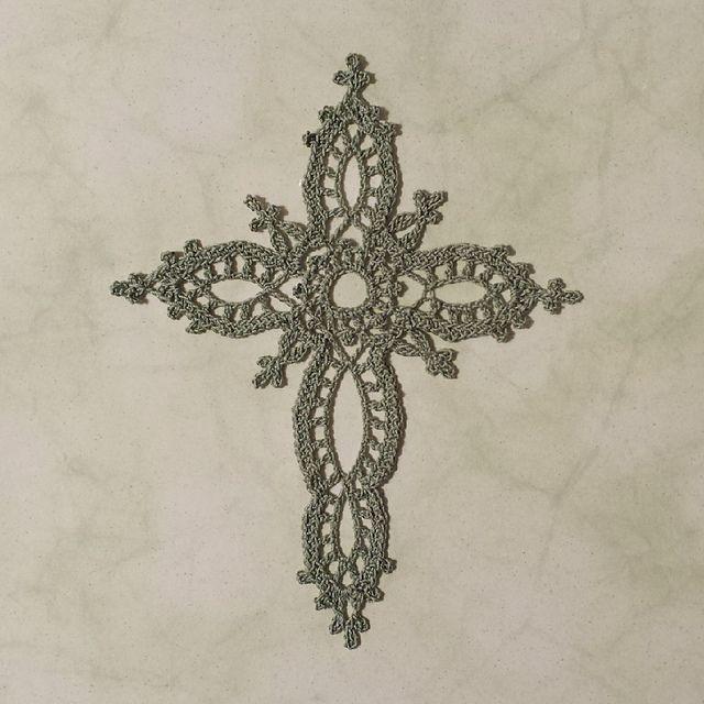 Ravelry: EpicFarms\' Sage Cross | Crochet-Bookmarks | Pinterest ...