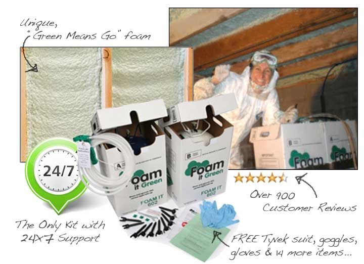 Spray Foam Insulation Kit Dow Froth Pak 650 Fire Rated 650 Sq Ft 15 Ft Hose