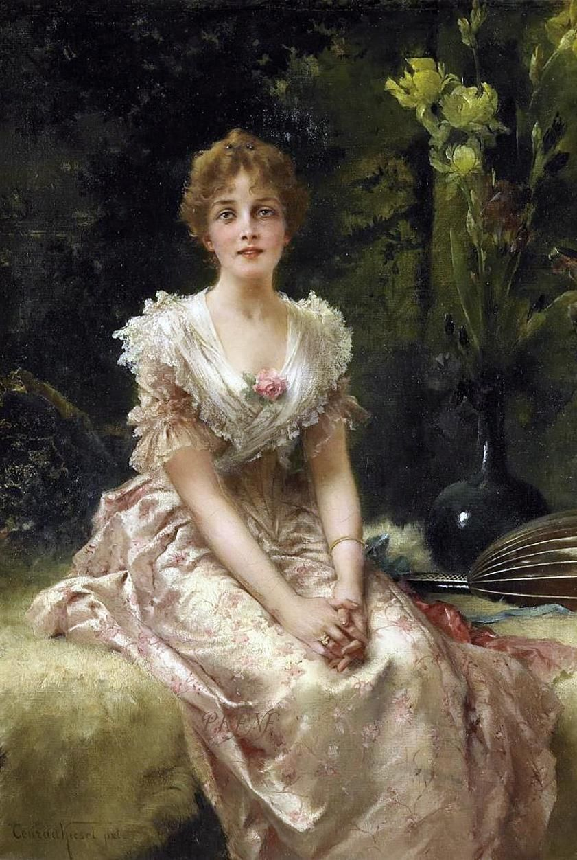 Portrait of a woman - Conrad Kiesel - (German, 1846 - 1921 ...