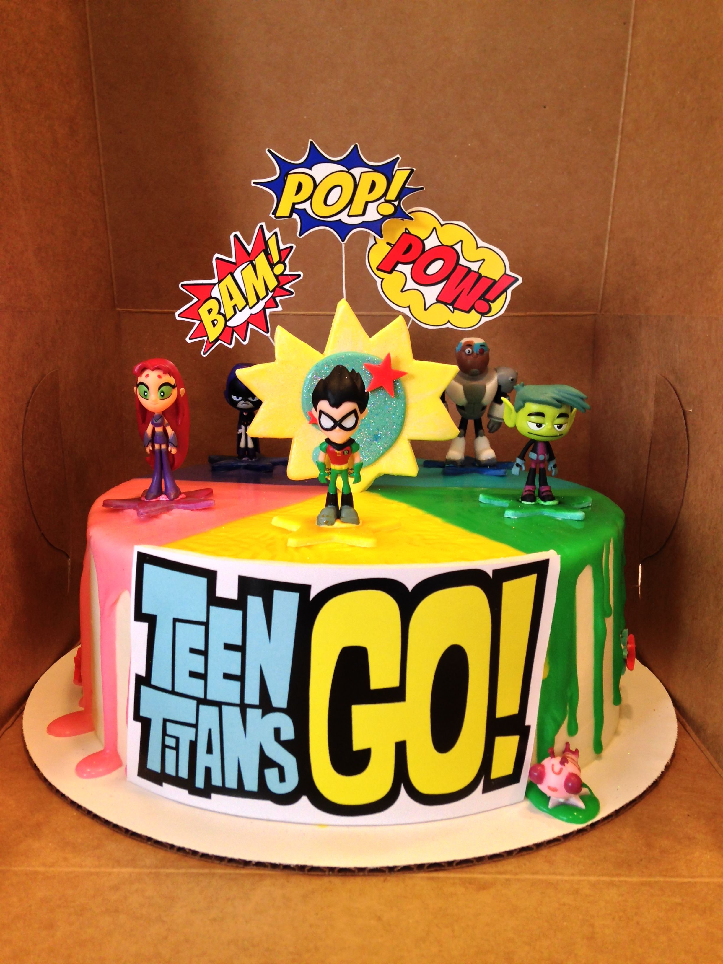 Teen Titans Go cake | vintage cakes in 2019 | Birthday, Birthday ...