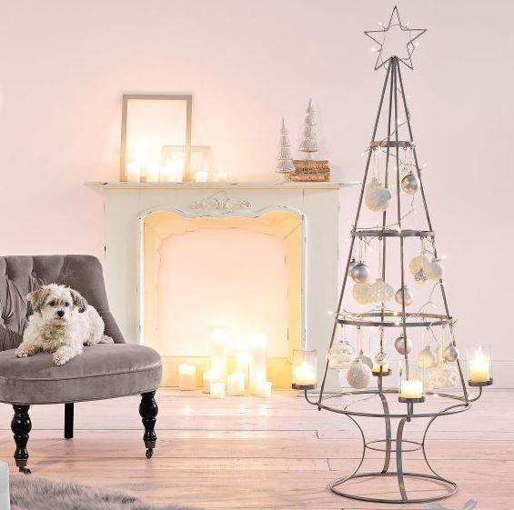 Deko objekt weihnachtsbaum metall glas h 150 cm dekoration for Weihnachtsbaum metall