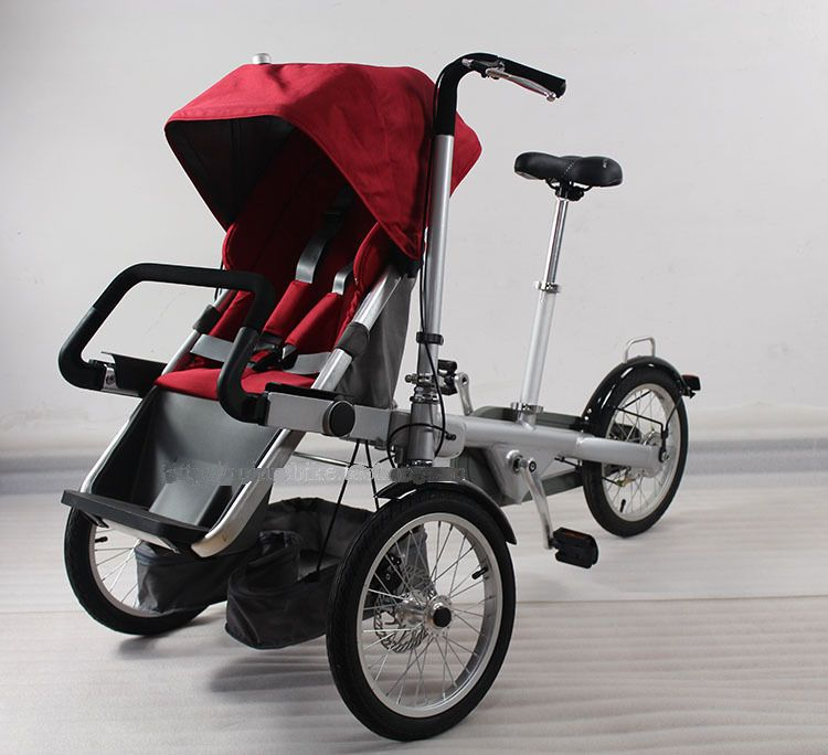727d6e457 Cheap Folding 3 Wheels Bicycle 16inch Mother Baby Stroller Bike Carrier  Bicycle Carrinho taga baby stroller