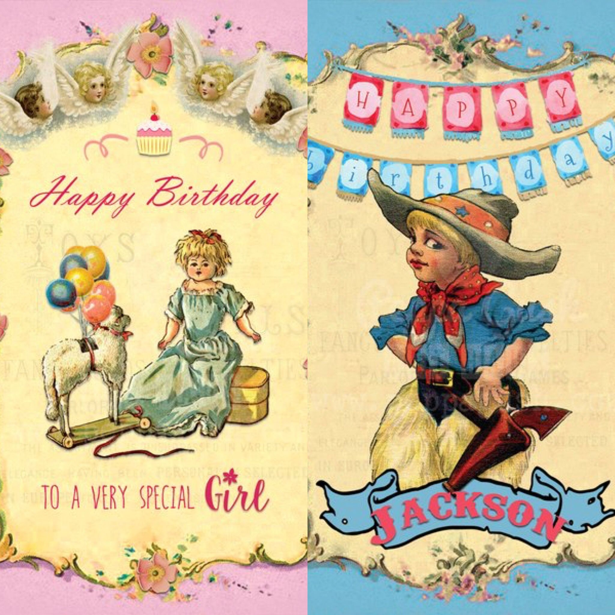 Free happy birthday card for young girl or boy Vintage inspired – Birthday Cards Canada