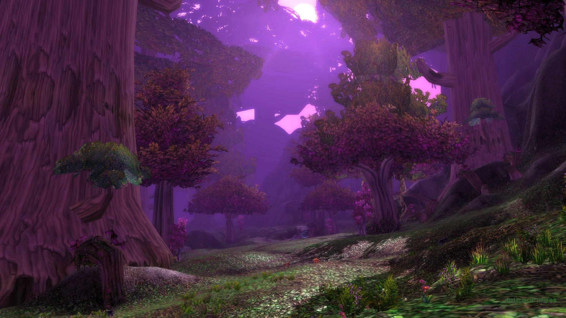 World Of Warcraft Teldrassil Shadowglen Night Elves Forest Pc Gaming In Game Photography Screen Shot 1080p World Of Warcraft Wallpaper Warcraft Night Elf