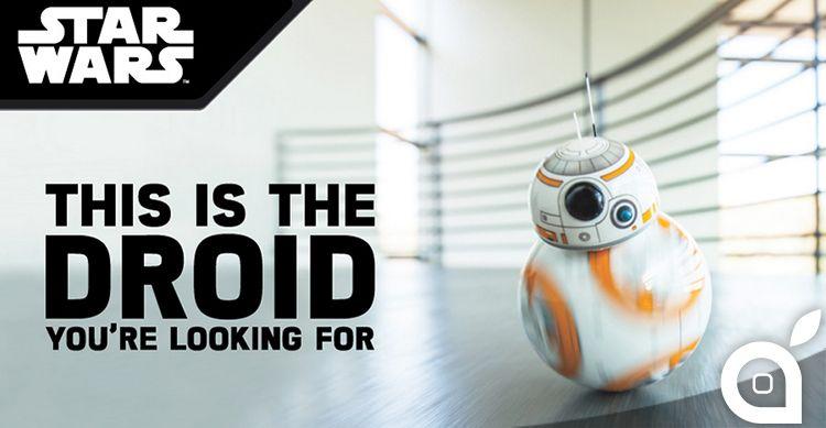 Sphero presenta BB-8 il droide di Star Wars da controllare con il proprio iPhone [Video]
