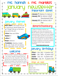 Communicating with parents in a preschool special for Childcare newsletter templates