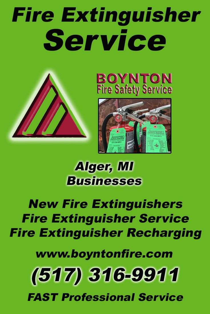 Fire extinguisher service alger mi 517 3169911 were