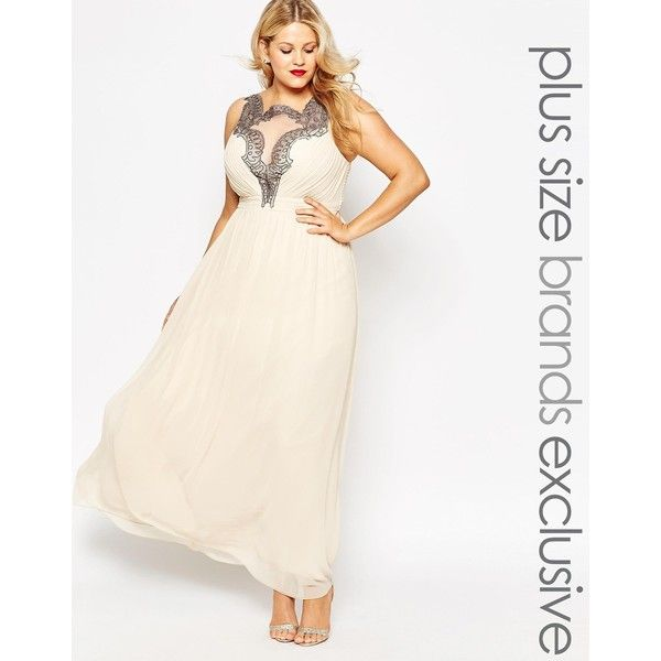Little Mistress Plus Baroque Lace Applique Maxi Dress ($99 ...