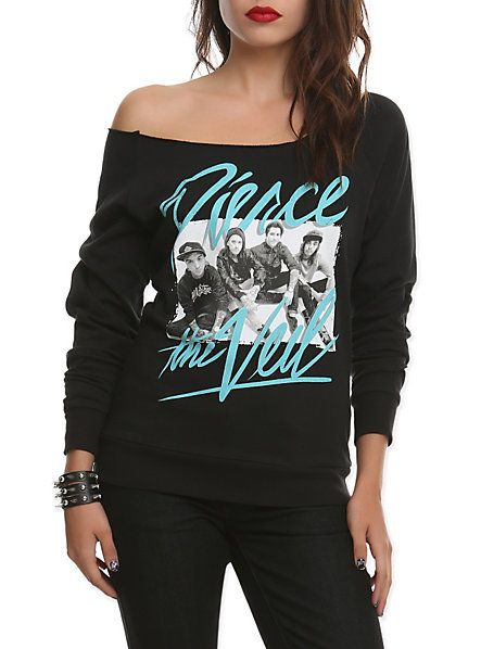 Pierce The Veil Photo Girls Crewneck Sweatshirt | Hot Topic | want ...