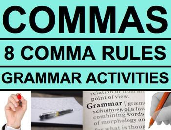 Comma rules worksheet answers