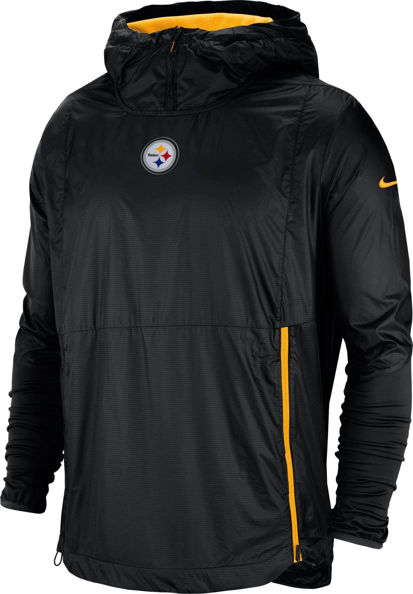 best sneakers c051f 6243b Nike Men's Pittsburgh Sideline Fly Rush Black Jacket ...