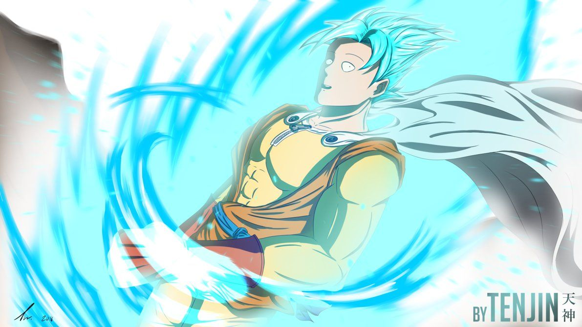 Hello This Is A Fusion Of Saitama From One Punch Man And Son Goku From Dragonball I Made This For An Fusion Contest Xd It Was H Anime Funny Saitama Dragon