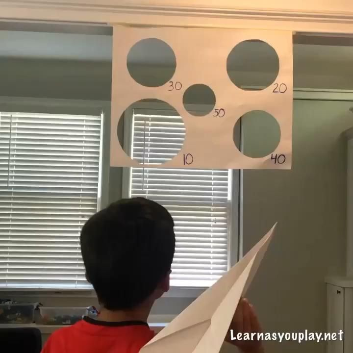Paper Airplane Target! Ages 3+ – Learn As You Play