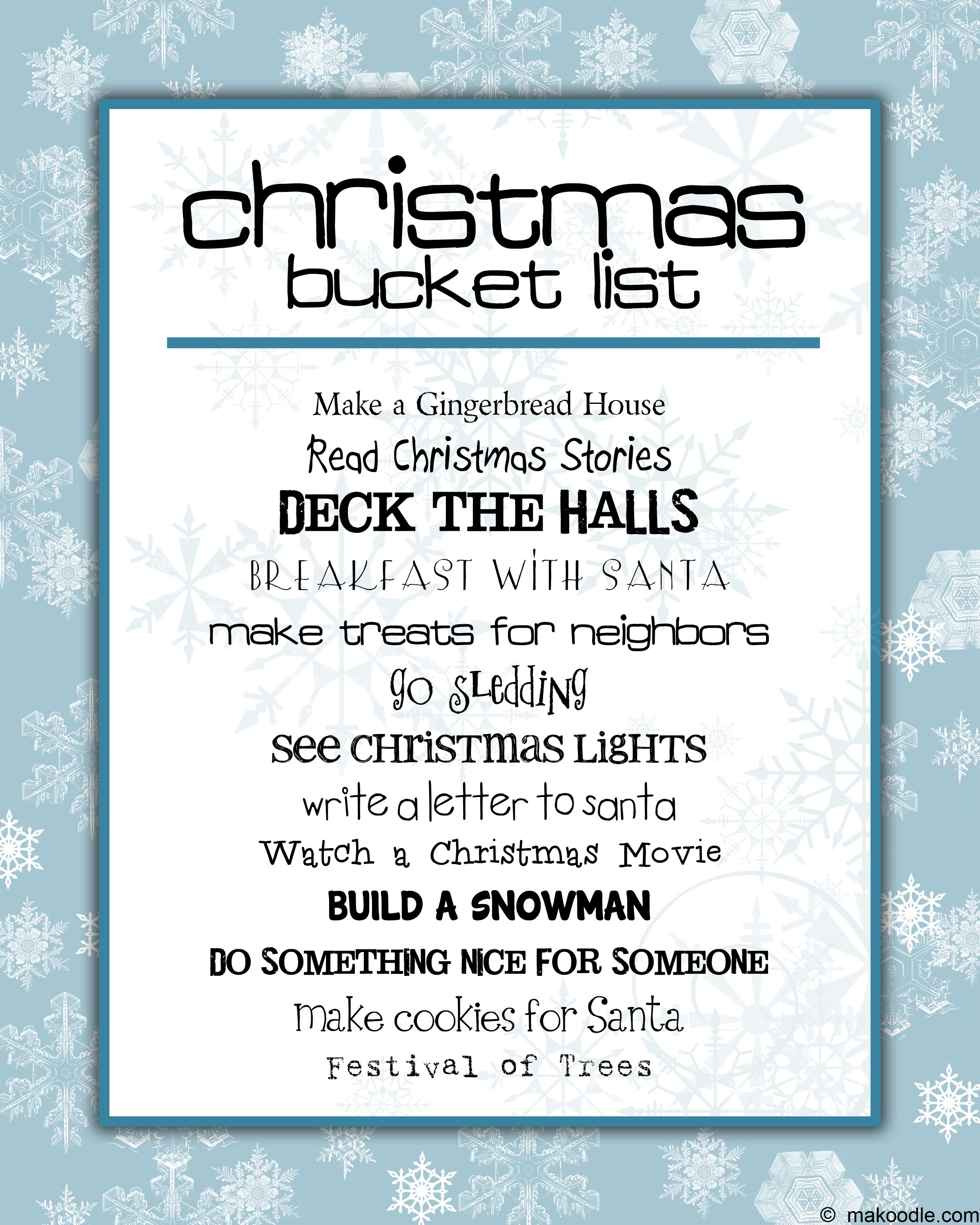 """christmas to do list. I don't like the title """"bucket list"""" since it comes from things you want ..."""