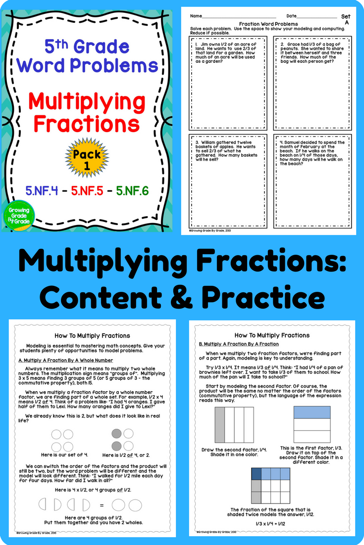 Multiplying Fractions Word Problems | Word problems, Common cores ...
