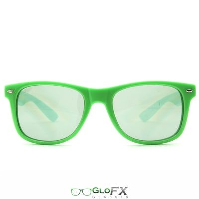 Ultimate Diffraction Glasses: Green Tinted