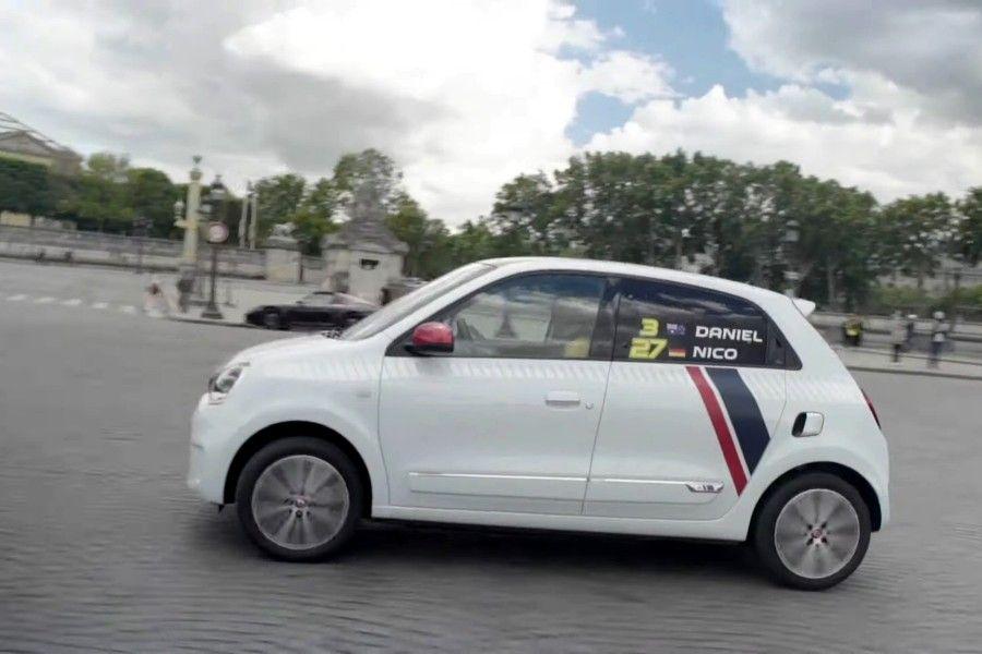 Renault Ricciardo Et Hulkenberg En Twingo Dans Paris En Video
