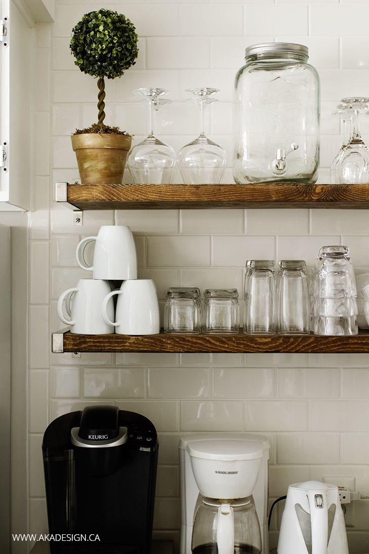 kitchen chronicles diy floating rustic shelves rustic shelves