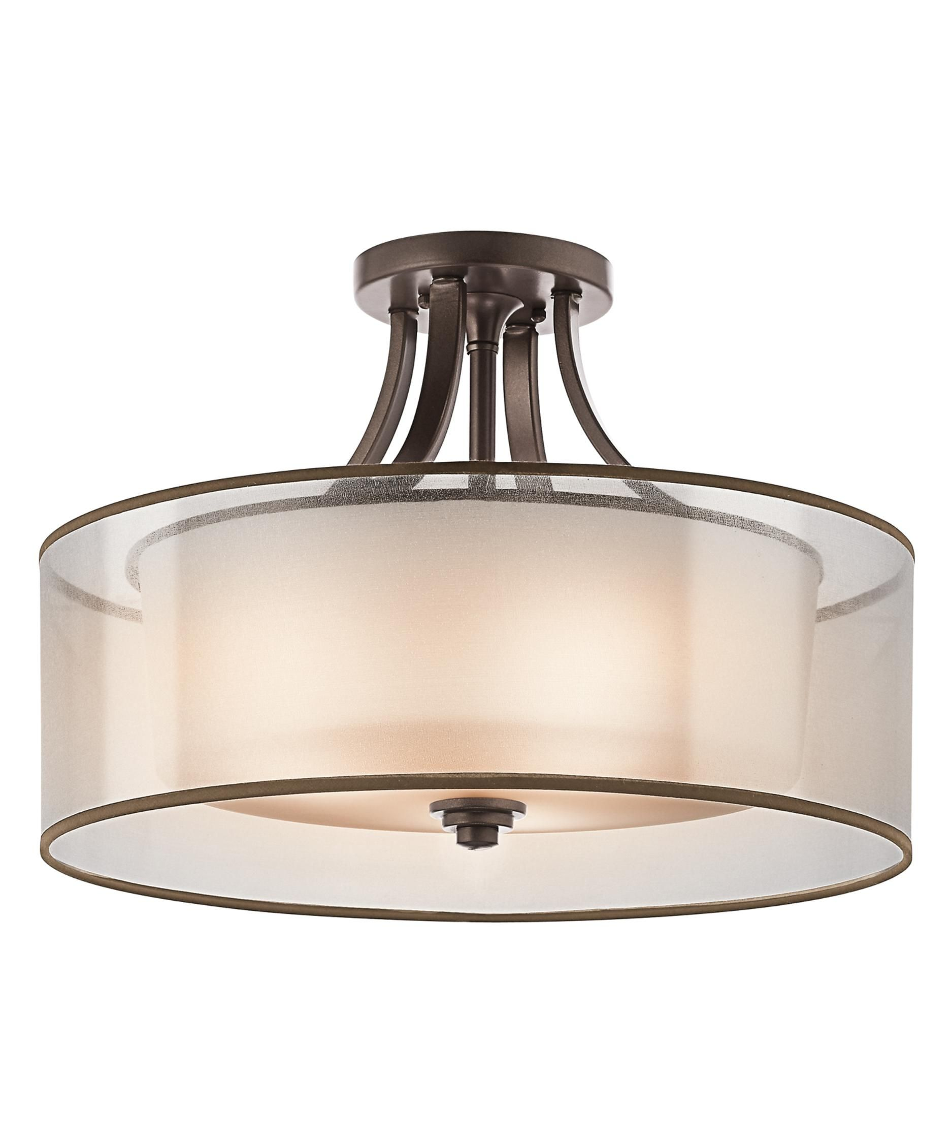 Lacey 20 Inch 4 Light Semi Flush Mount by Kichler Lighting