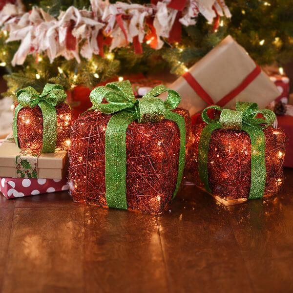 Where To Decorate With Pre Lit Gift Boxes For Christmas My Kirklands Blog Christmas Spirit Christmas Decorations Green Gifts