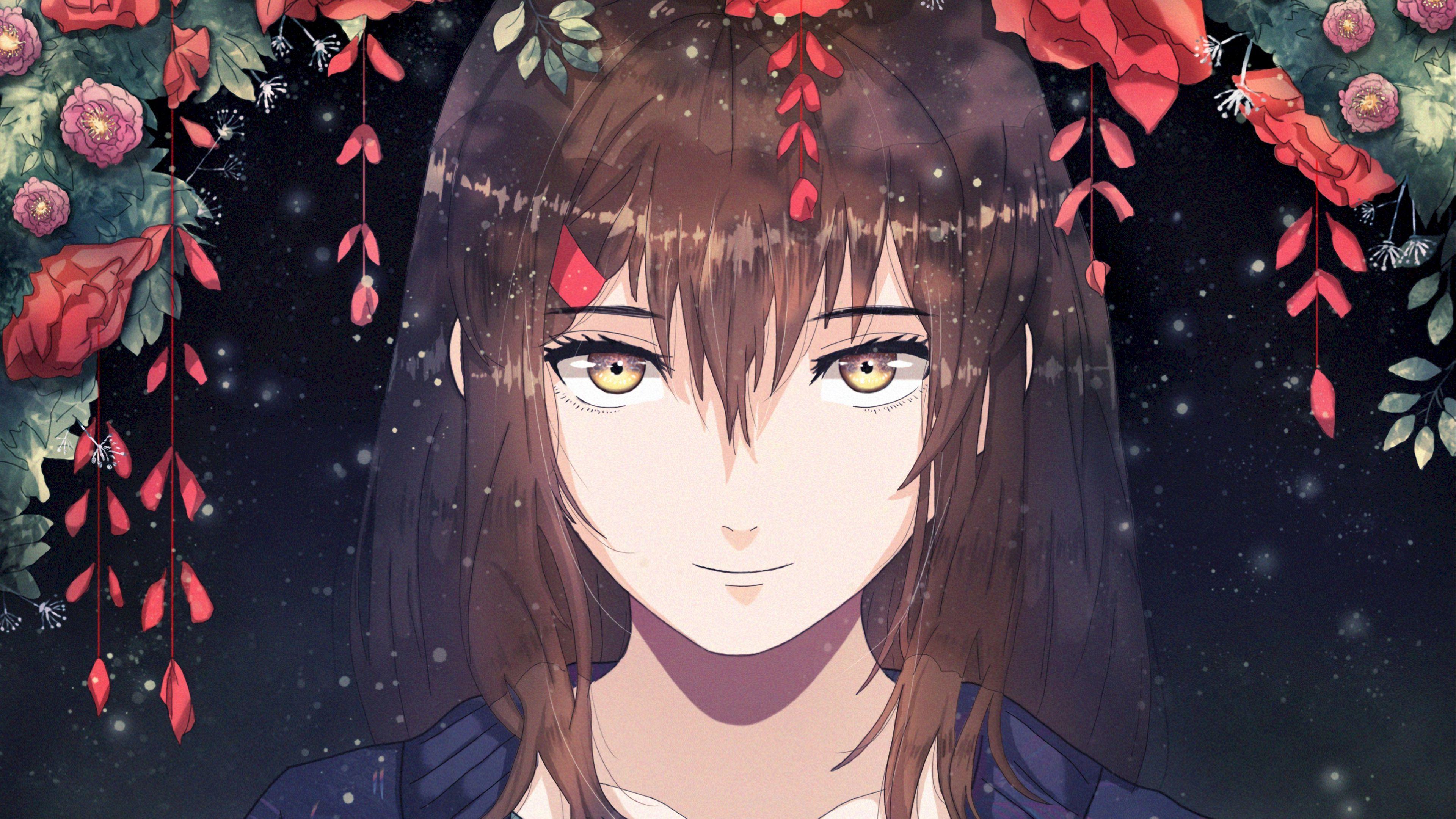 Download wallpaper 3840x2160 girl, anime, smile, sweet