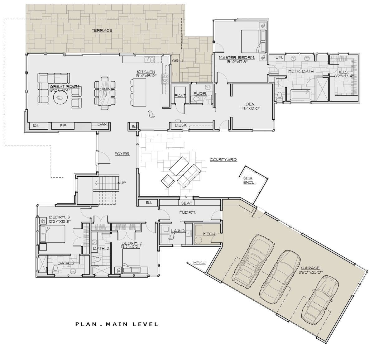 House Plan 5829 00031 Contemporary Plan 3 837 Square Feet 4 Bedrooms 4 5 Bathrooms House Plans How To Plan Square Feet