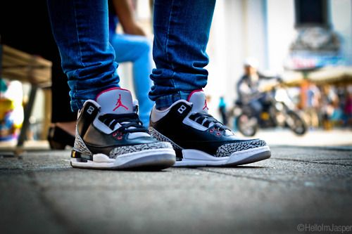 c7401c24077134 air jordan 3 black cement