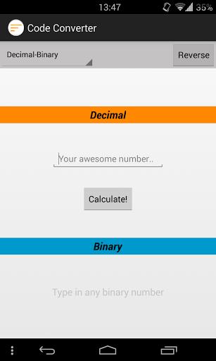 Convert your decimal code in binary or hexadecimal code  http://Mobogenie.com