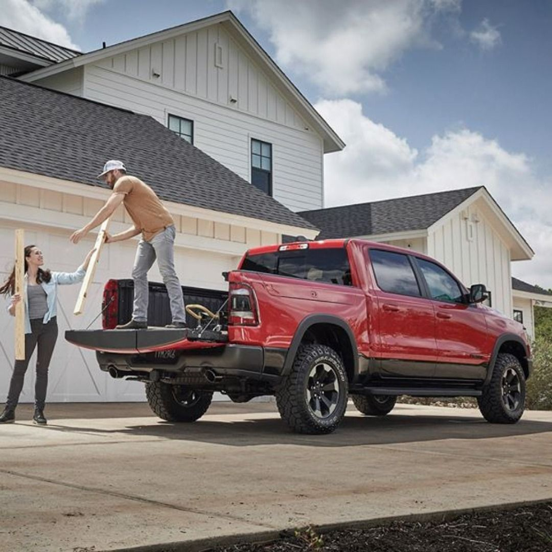 The AllNew Ram 1500 with multifunction tailgate and cargo