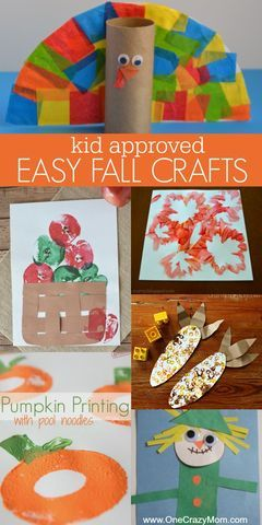 Fall Crafts for Kids - Quick and Easy Fall crafts for toddlers and more! #fallcrafts