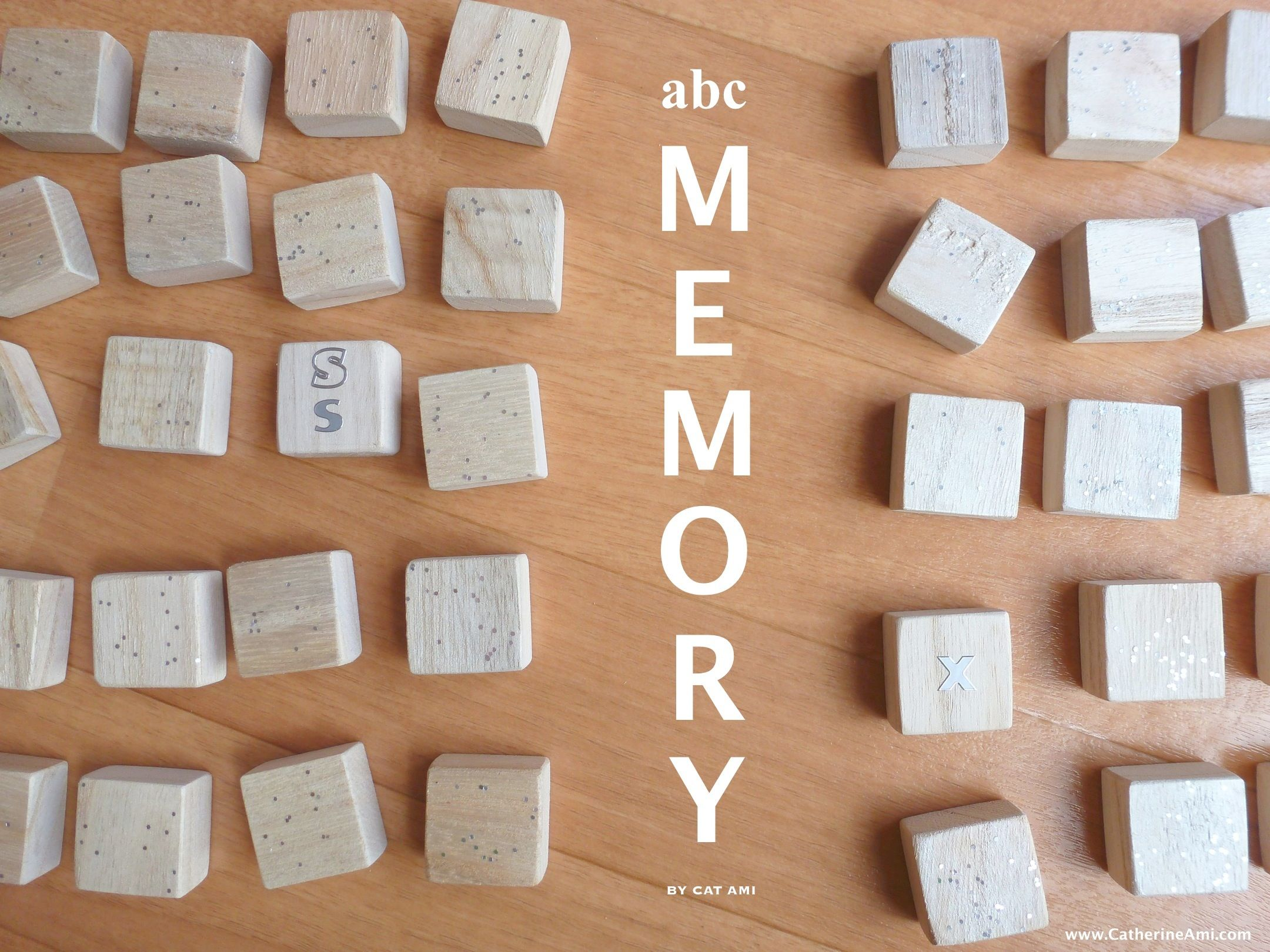 DIY Alphabet Memory and more ways for educational play