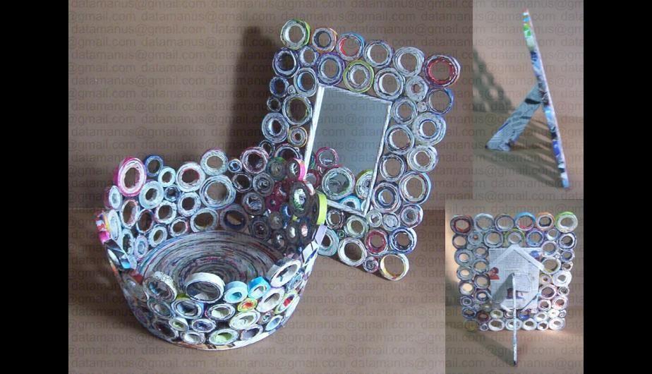 Adornos Para La Casa Con Papel Reciclado Foto Pinterest Cesteria En Papel Manualidades Recicladas Manualidades Con Materiales De Desecho