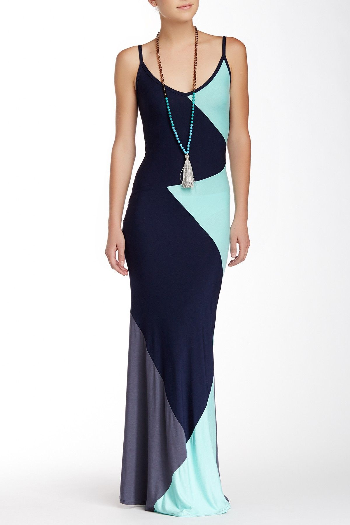 $59.97 $168.00  64% Off Colorblock Maxi Dress by Go Couture on @HauteLook